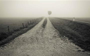 Empty Country Road Mac wallpaper