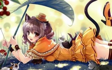 Anime Kittens Mac wallpaper