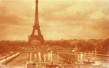 Old Photo Of The Eiffel Tower Mac wallpaper