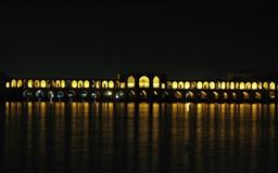 Pole Khajoo Iran Esfehan Mac wallpaper