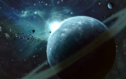 Asteroids Field Mac wallpaper