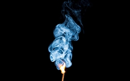 Burning Mamachstick With Smoke Mac wallpaper