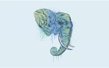 Elephant Head Mac wallpaper