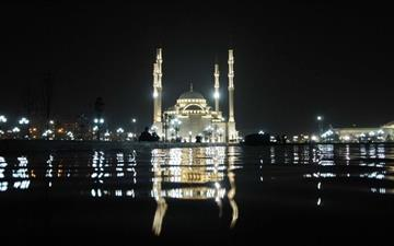Grozny Mosque At Night Mac wallpaper