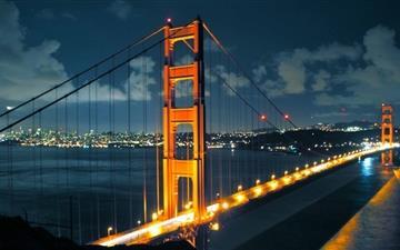 Night Golden Gate Bridge Mac wallpaper