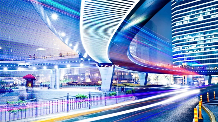 Night Urban Traffic Mac Wallpaper