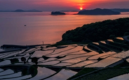 Rice Terraces At Sunset Mac wallpaper