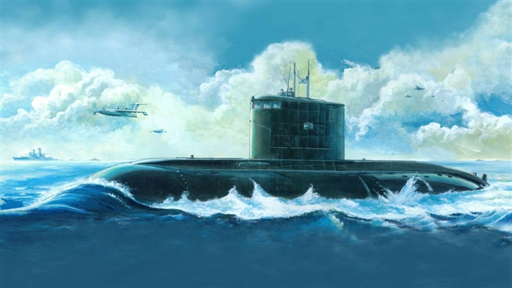 Submarine Painting  Mac Wallpaper