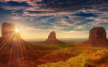 Sunshine Utah Monument Valley Mac wallpaper