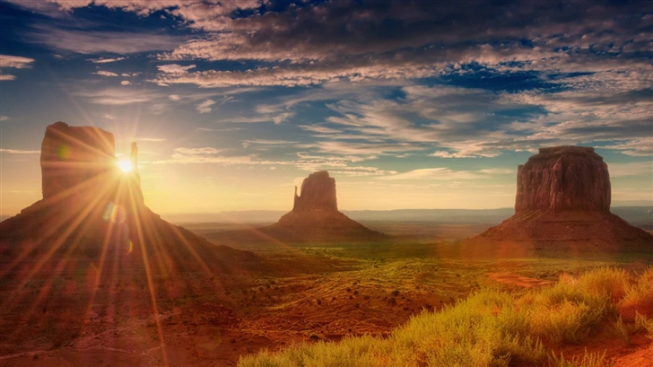 Sunshine Utah Monument Valley Mac Wallpaper