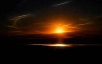 A Fractal Sundown Mac wallpaper