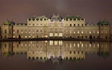 Belvedere Palace Vienna Mac wallpaper