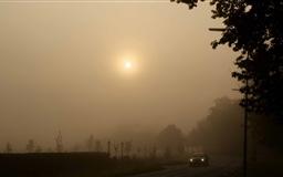 Misty Sunday Morning Mac wallpaper