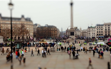 Tilt Shift London Mac wallpaper