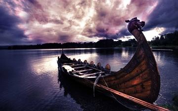 Vikings Boat Mac wallpaper