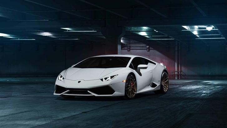 White Lamborghini Mac Wallpaper