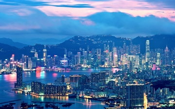 Hong Kong Night Lights Mac wallpaper