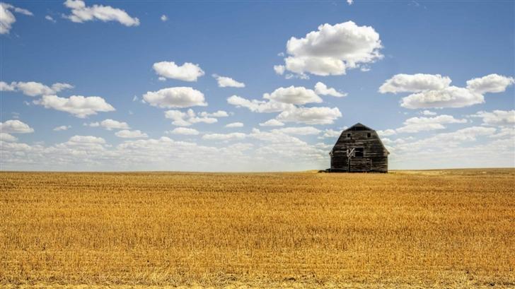 Hut In Open Field Mac Wallpaper
