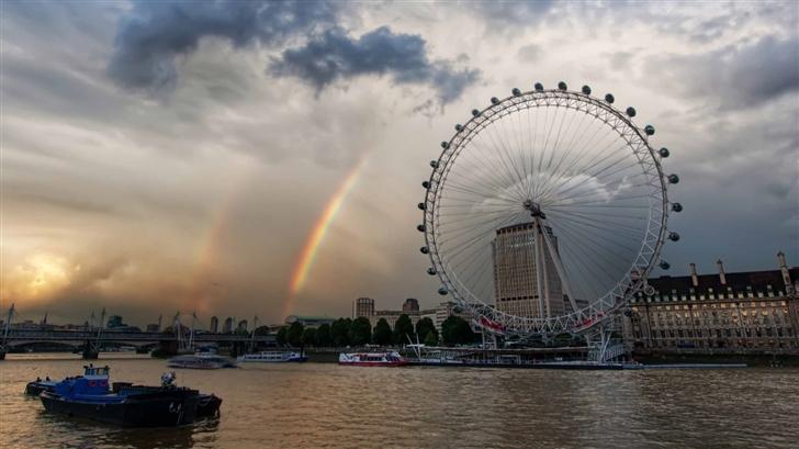 London Eye And Rainbow Mac Wallpaper