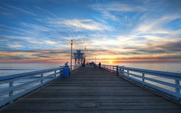 Pier At Sunset Mac wallpaper