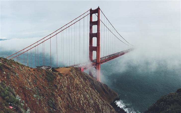 Golden Gate Mist Mac Wallpaper
