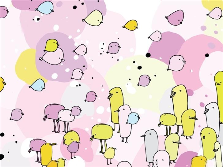Zune birds Mac Wallpaper