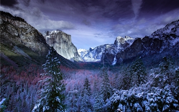 Yosemite Tunnel View Mac wallpaper