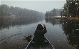 Snowy Paddles in the ADK's