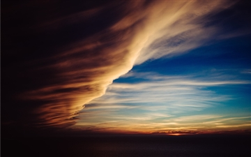 Sunset clouds Mac wallpaper