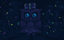 Imagine blue owls