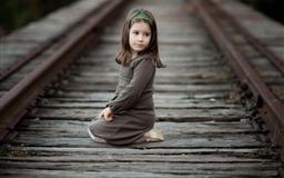 Girl Railway Track