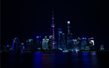 shanghai night Mac wallpaper