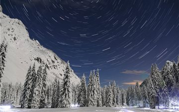 Startrails Mac wallpaper