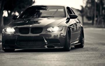 BMW Lights Grayscale BMW M3 Mac wallpaper