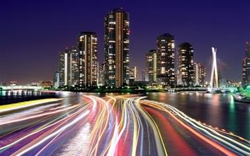 City Lights Tokyo Mac wallpaper