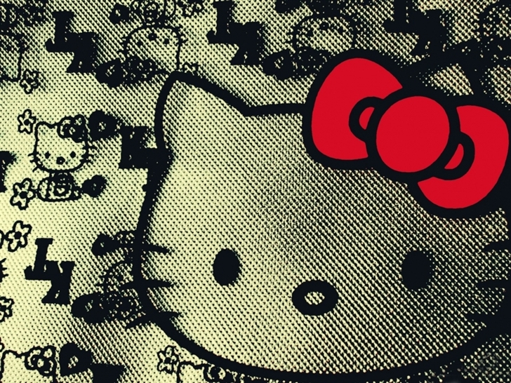 Hello kitty design Mac Wallpaper
