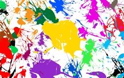 Paint Splatter Colorful