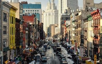 New York Street NY USA Mac wallpaper