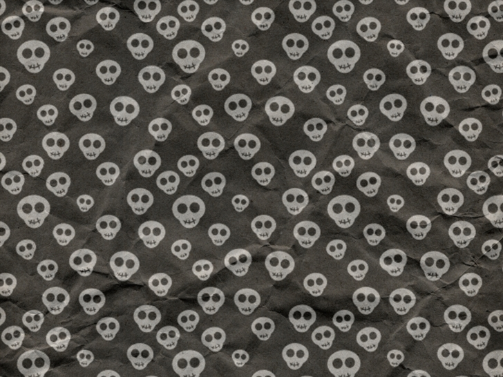 Cute Skulls Wrapping Paper Mac Wallpaper