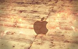 Apple Logo Wood Floor