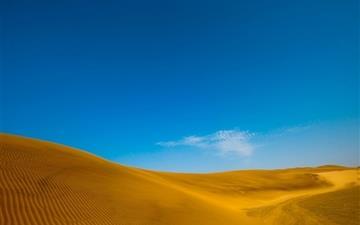 Golden desert Mac wallpaper