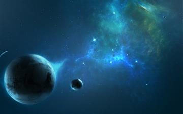 Out space planets Mac wallpaper
