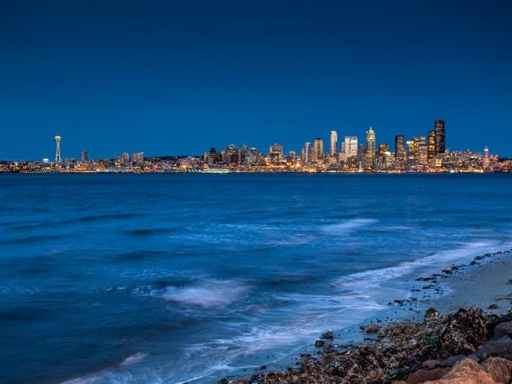 Seattle from the beach Mac Wallpaper
