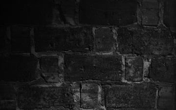 Wall Bricks Black Macro Night Mac wallpaper