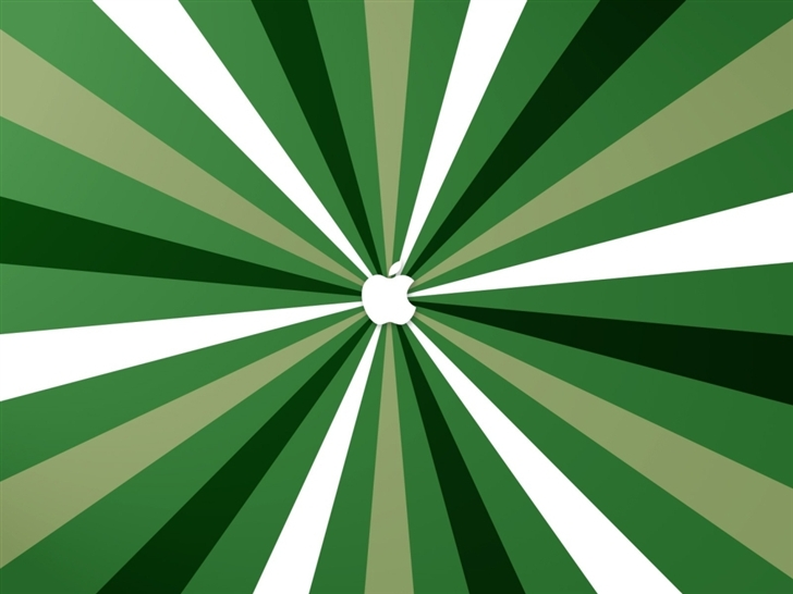 Apple Green Stripes Mac Wallpaper