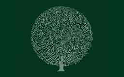 Minimalist simple background trees