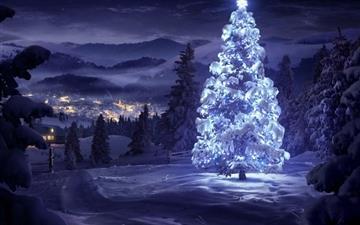 Christmas Tree Greeting Cards Mac wallpaper