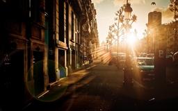 Street sunset Mac wallpaper
