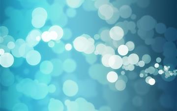 Blue Bokeh Mac wallpaper