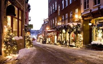 Christmas town Mac wallpaper